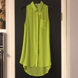 Lime Green Sheer High Low Top from Lush